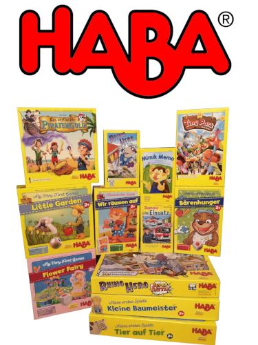 Logga för haba spel samling.